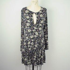American Eagle Soft & Sexy Dress Keyhole Floral